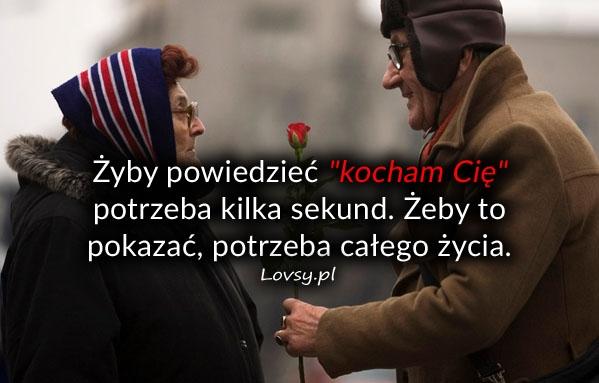 """Żyby powiedzieć """"kocham Cię"""" potrzeba..."""