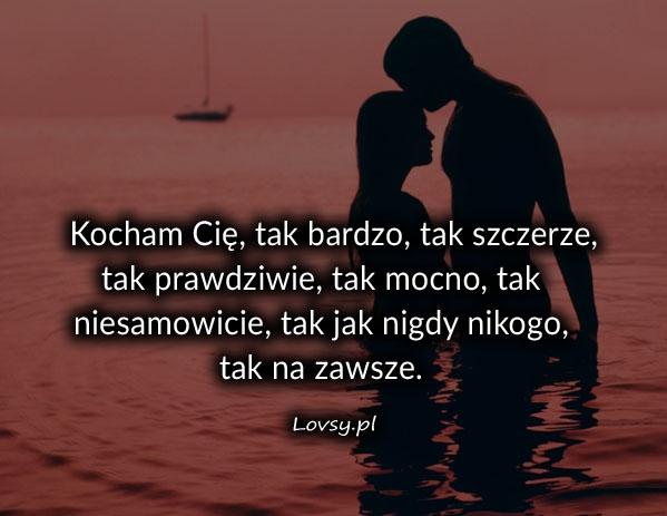 Kocham Cię tak bardzo tak ...