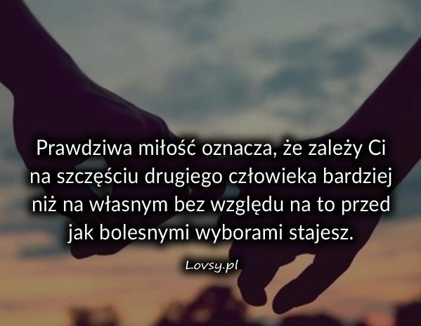 Prawdziwa miłość oznacza że ...